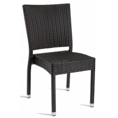 Georgina Outdoor Black Weave Bistro Chair