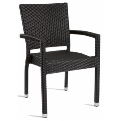 Georgina Black Weave Outdoor Restaurant Armchair