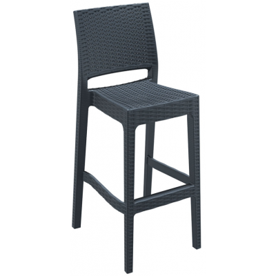Gina Restaurant Outdoor Stacking Bar Stool