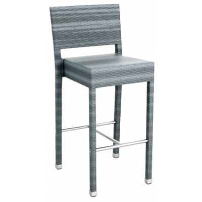 Madeline Grey Weave Outdoor High Bar Stool