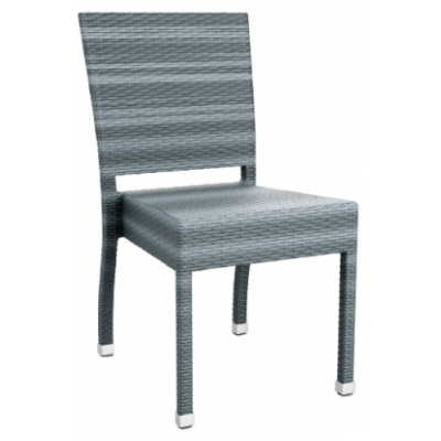 Madeline Grey Weave Outdoor Bistro Chair