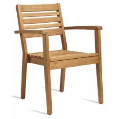 Millie Robinia Wood Outdoor Restaurant Armchair