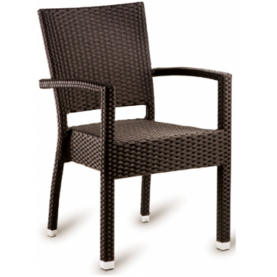 Ruby Mocca Weave Outdoor Restaurant Armchair