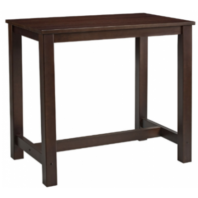 Rectangular Walnut Poseur Bar Table