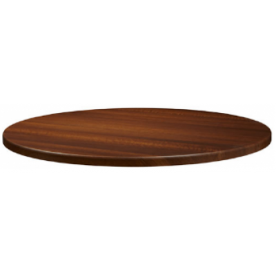 Dark Walnut Round Laminate Table Top