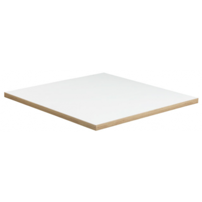 White 25mm melamine top with ABS Ply Wood Edge T3038 | Red Moon