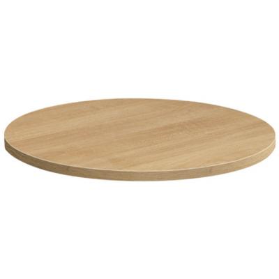 Light Oak MFC Round Table Top