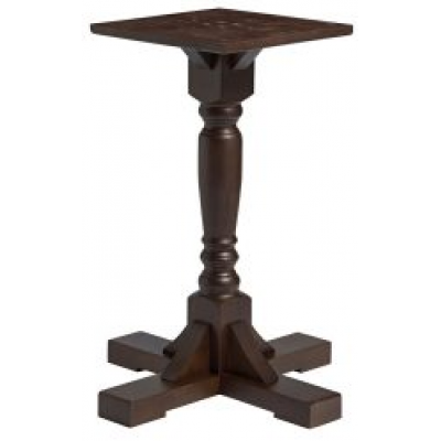 Traditional Dark Walnut Restaurant Dining Table Base