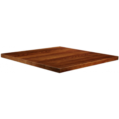 Solid Wood Square Dark Walnut Top