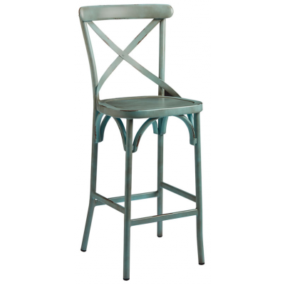 Zara Distressed Cafe High Bar Stool