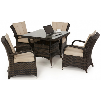 Colombia 4 Seat Square Dining Set