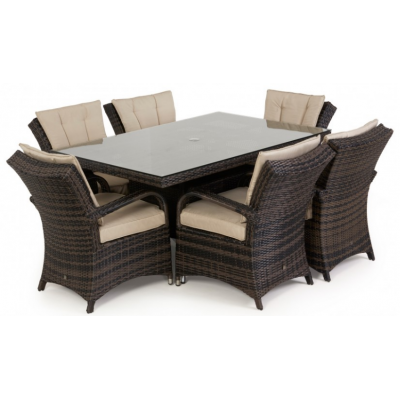 Torino 6 Seat Rectangle Dining Set