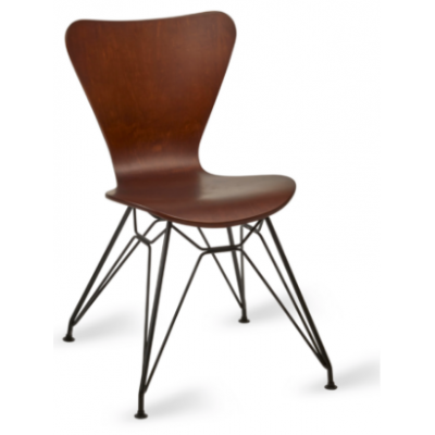 Roca Black Frame Side Chair