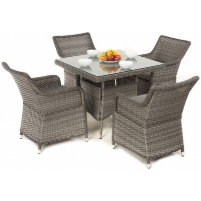 Victoria 4 Seat Square Dining Set