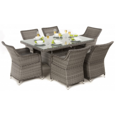 Victoria 6 Seat Rectangle Dining Set