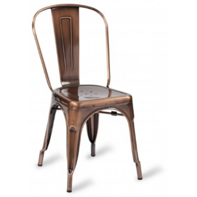 Zafra Vintage Copper Side Chair
