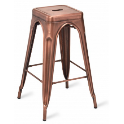 Zafra Vintage Copper Effect High Stool