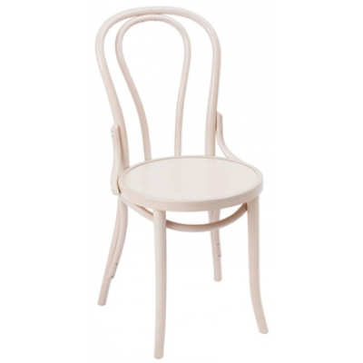 Portland Whitewashed Bentwood Bistro Chair