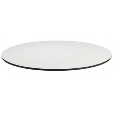 Extrema White Round Laminate Table Top - Pre Drilled