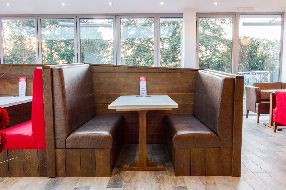 Banquette Seating and Fixed Booth Seating Red Moon Furniture